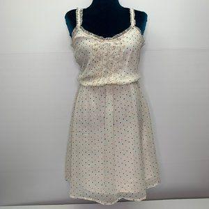 Zara Summer Dress Medium Polka Dot Lined Sheer